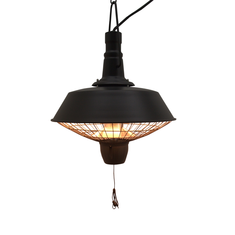 Outsunny Outdoor Electric Heater, Halogen, 2100W-Black