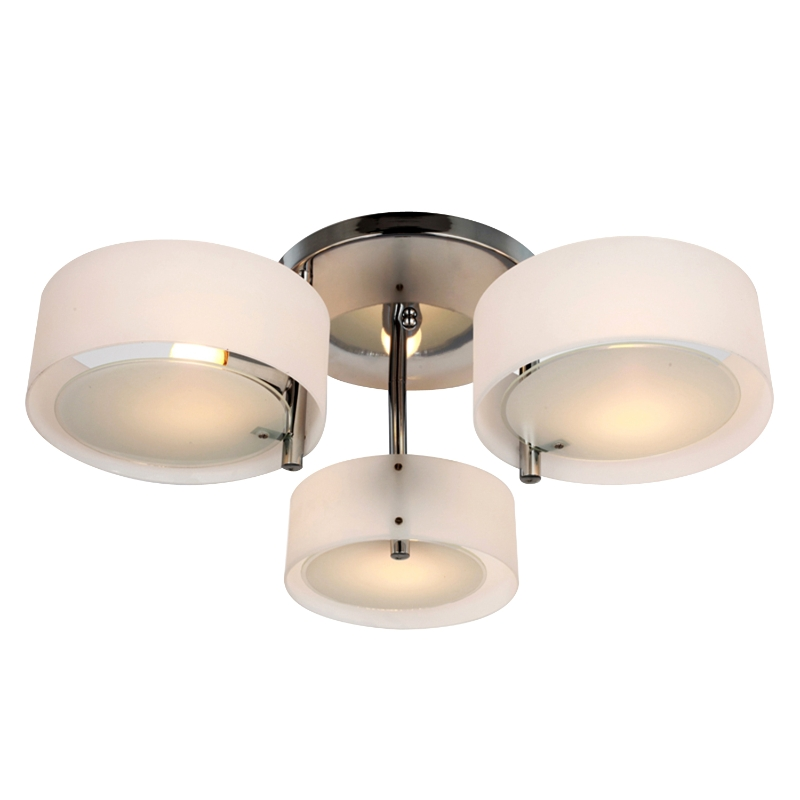 HOMCOM 3 Lights Acrylic Lamp Light-White
