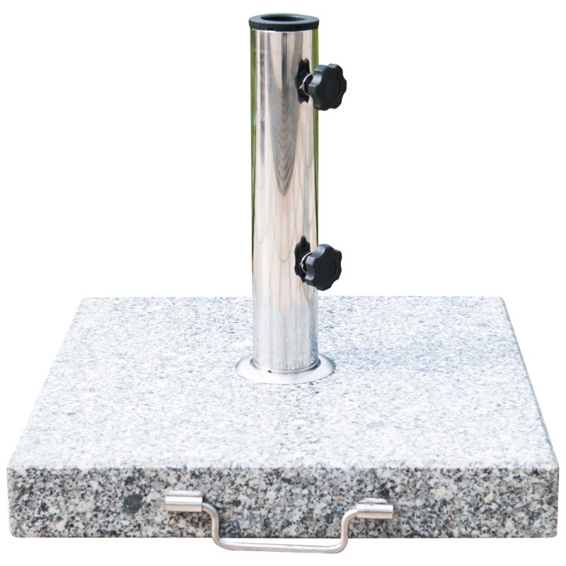 Outsunny 30 kg Marble Umbrella Base-Hemp Grey