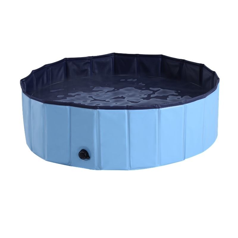 Pawhut Φ100x30H cm Pet Swimming Pool-Blue