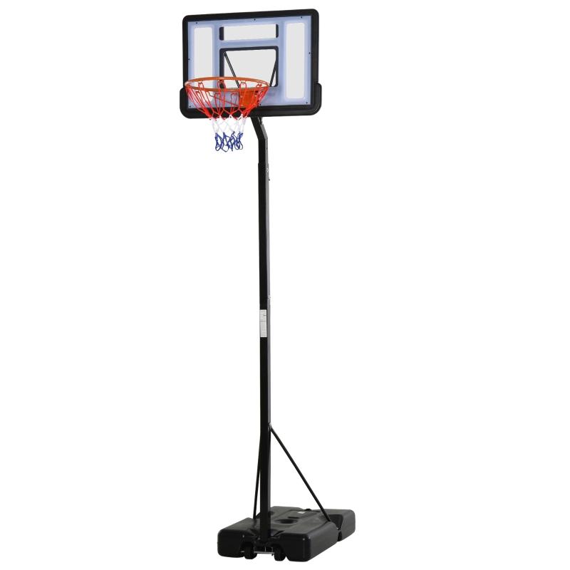 HOMCOM Steel Height Adjustable Basketball Hoop