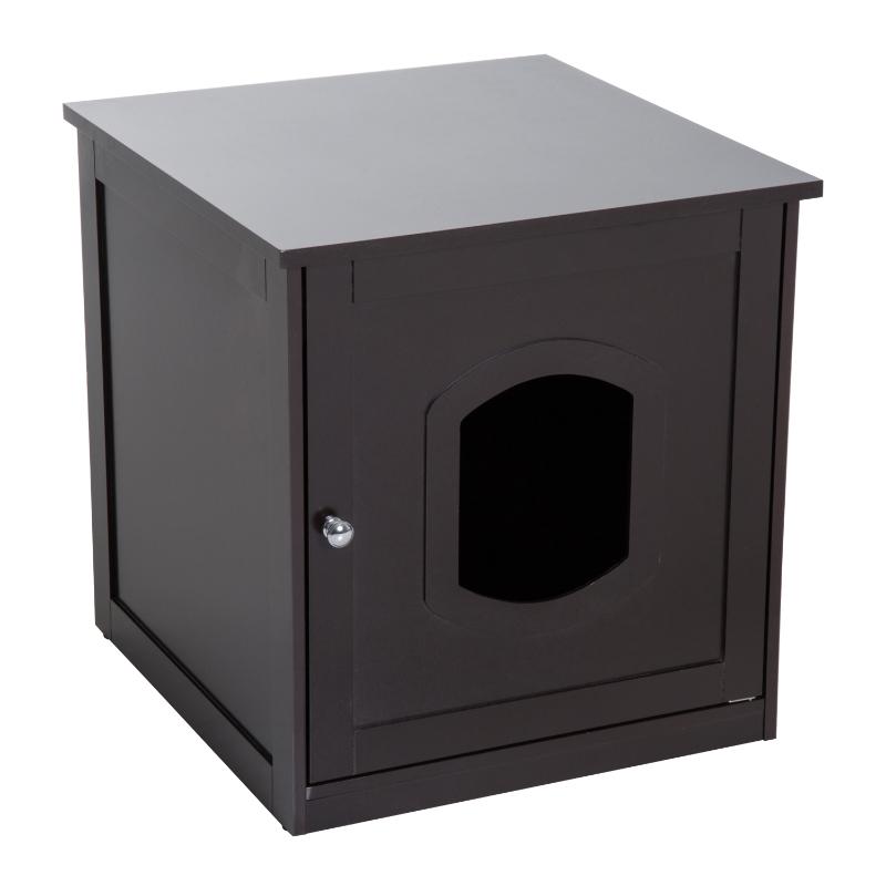 Pawhut Cat Litter House-Dark Brown