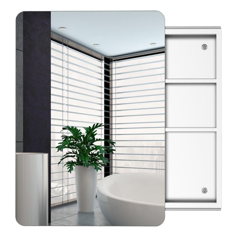 kleankin Stainless Steel Wall Mounted Bathroom Mirror Cabinet
