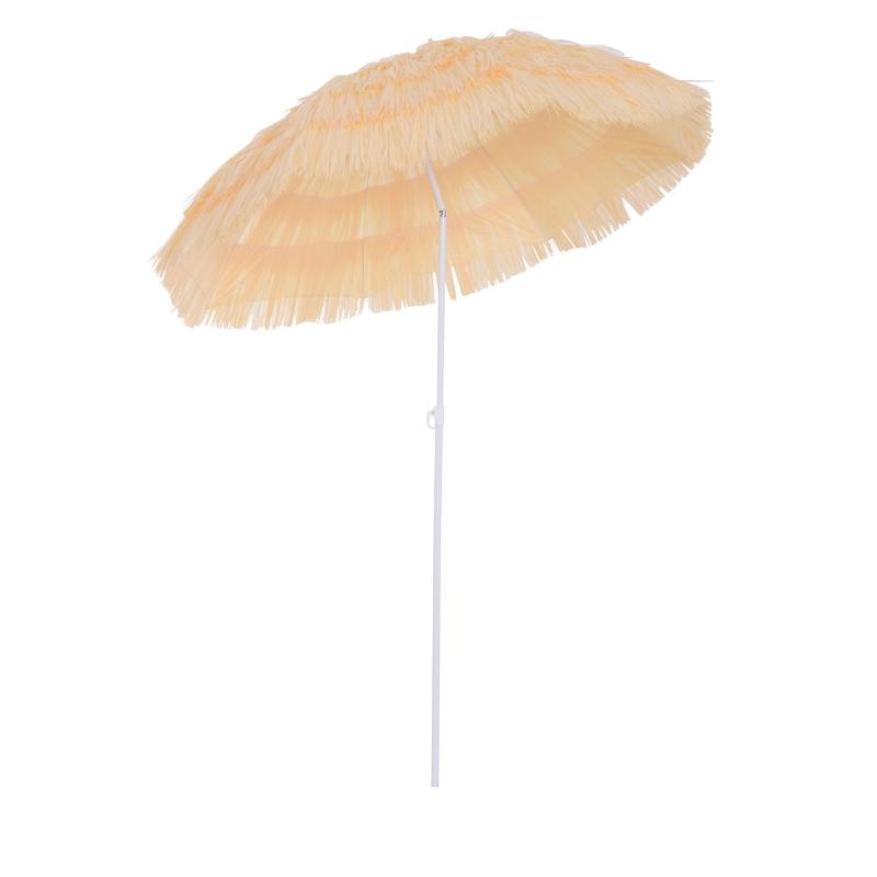 Outsunny Patio Garden Hawaii Beach Sun Umbrella Sunshade Hawaiian Folding Tilting Parasol-Yellow