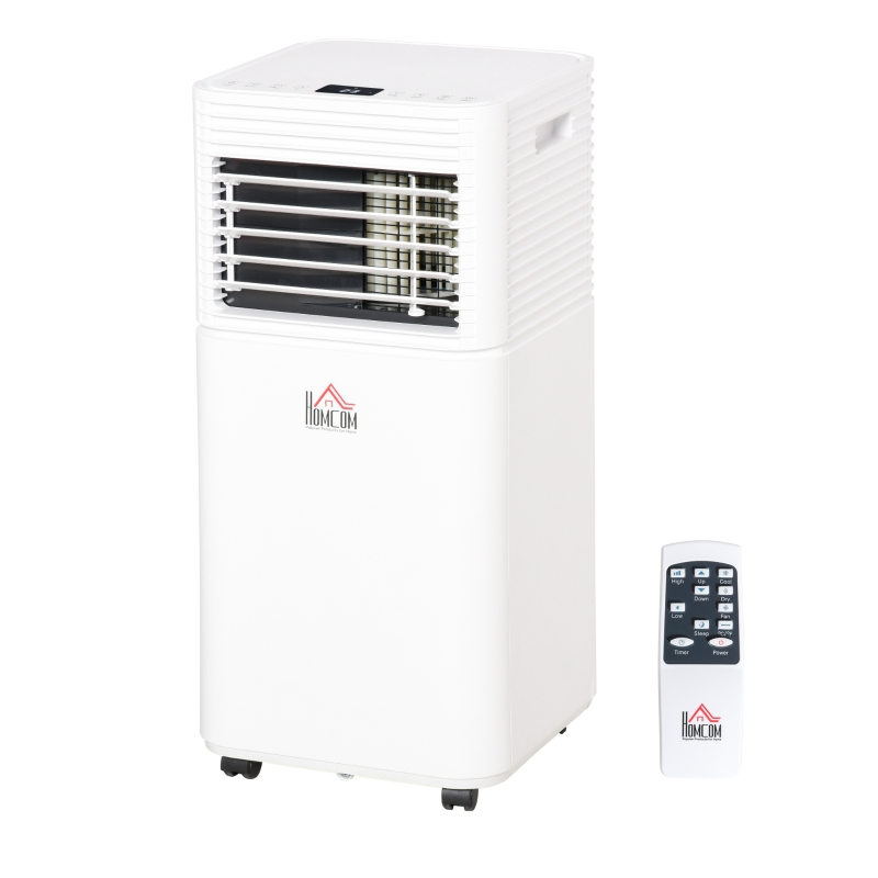 HOMCOM 785W Portable Air Conditioner 4 Modes LED Display 24 Timer Home Office White