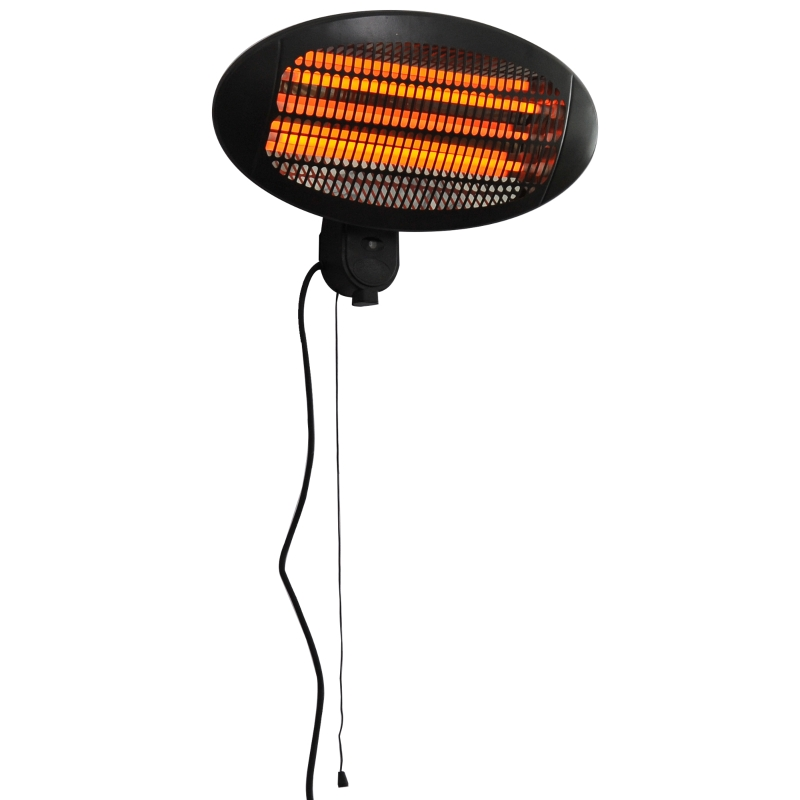 Outsunny Wall Mount Electric Infrared Patio Heater Warmer Aluminium 3 Power Setting 2kW