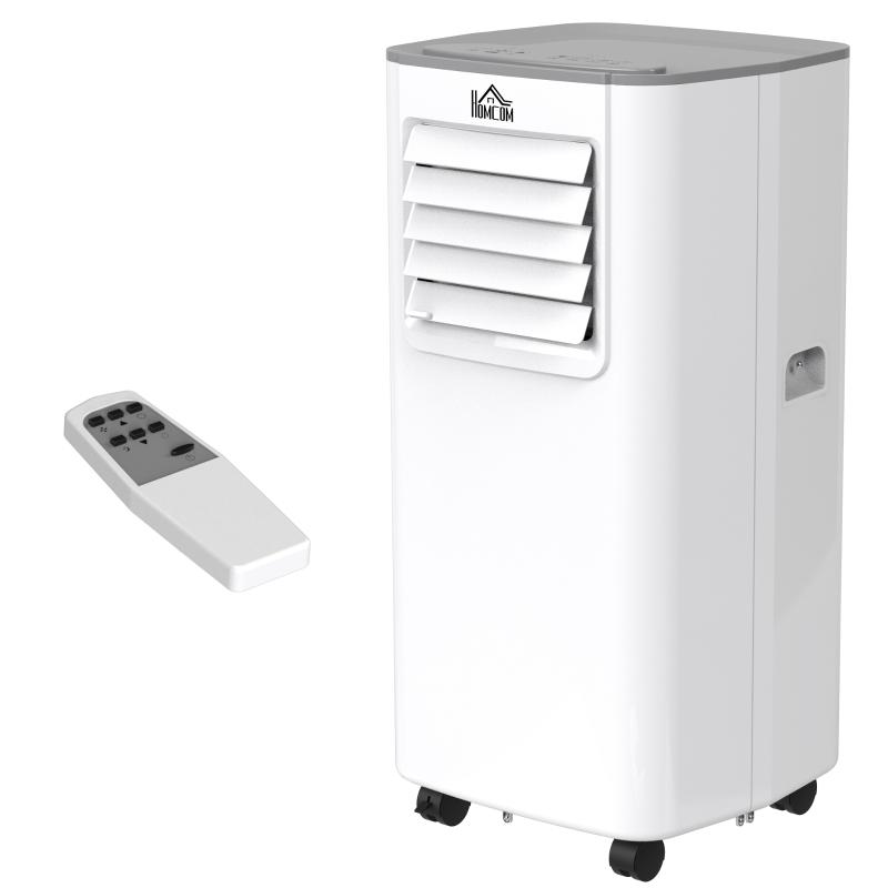 HOMCOM 5000BTU Portable Air Conditioner 4 Modes LED Display 24 Timer Home Office White