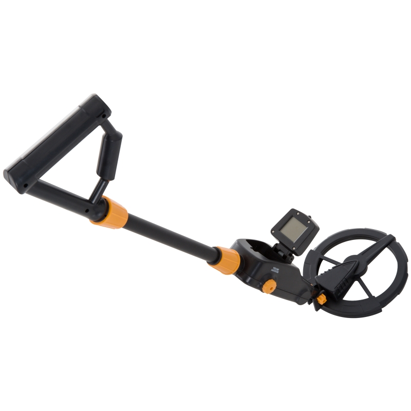 Outsunny Adjustable LCD Metal Detector, Water-resistant-Yellow/Black