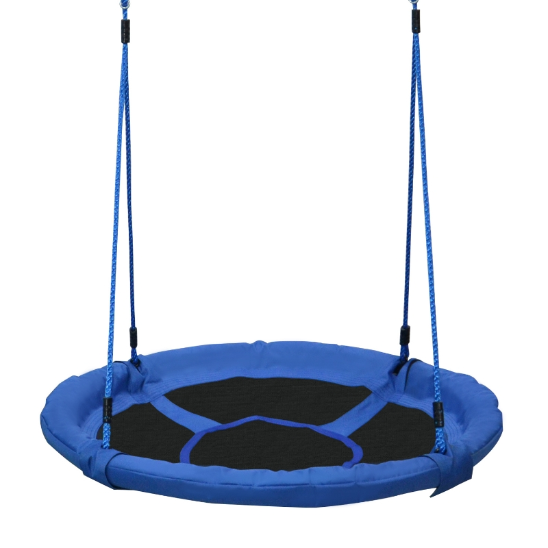 HOMCOM Kids Round Tree Swing ø100cm - Blue