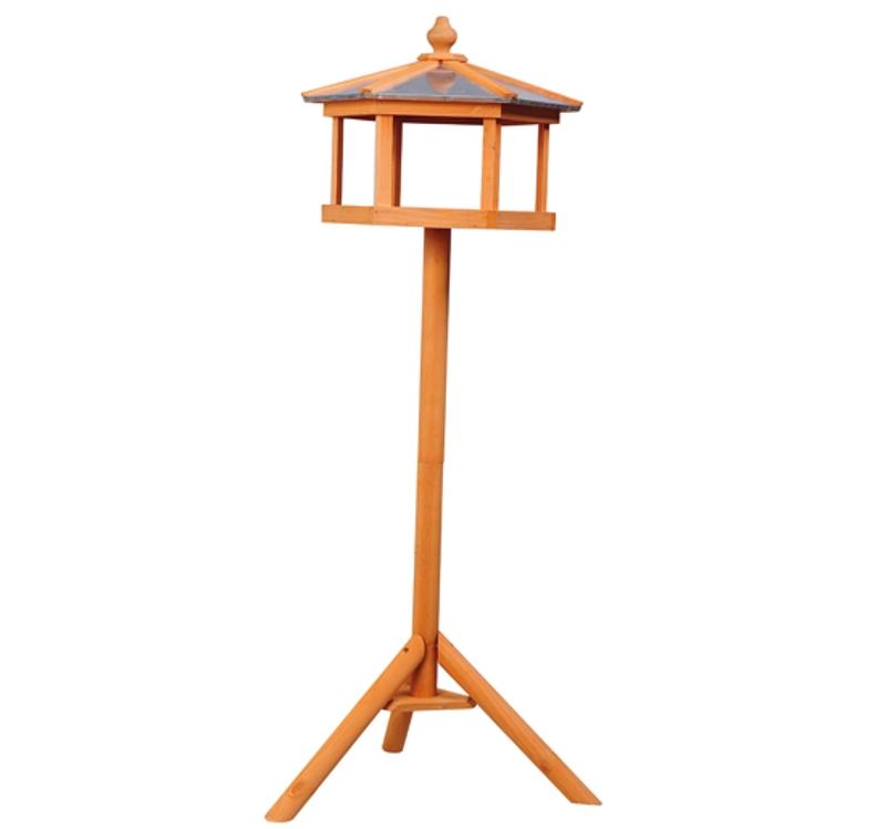 Pawhut Wooden Bird Table Feeder Station