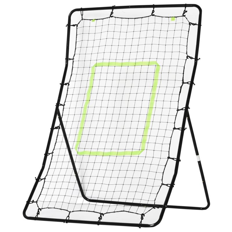 HOMCOM Tall PE Rebounder Net for Sports Target Training 90x80x140cm Black