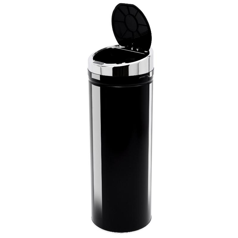 HOMCOM 50 L Stainless Steel Sensor Trash Can W/ Bucket-Black