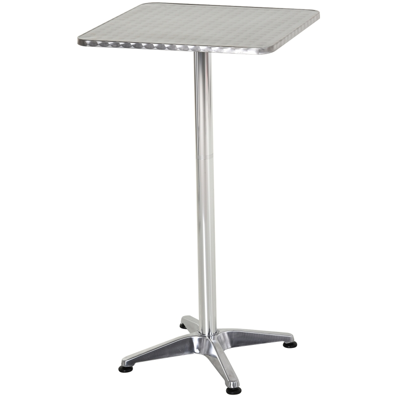HOMCOM Height Adjustable Square Bar Table, 60x60 cm