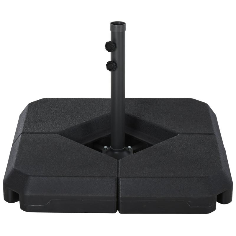 Outsunny HDPE 4-Part Fillable Parasol Base Black