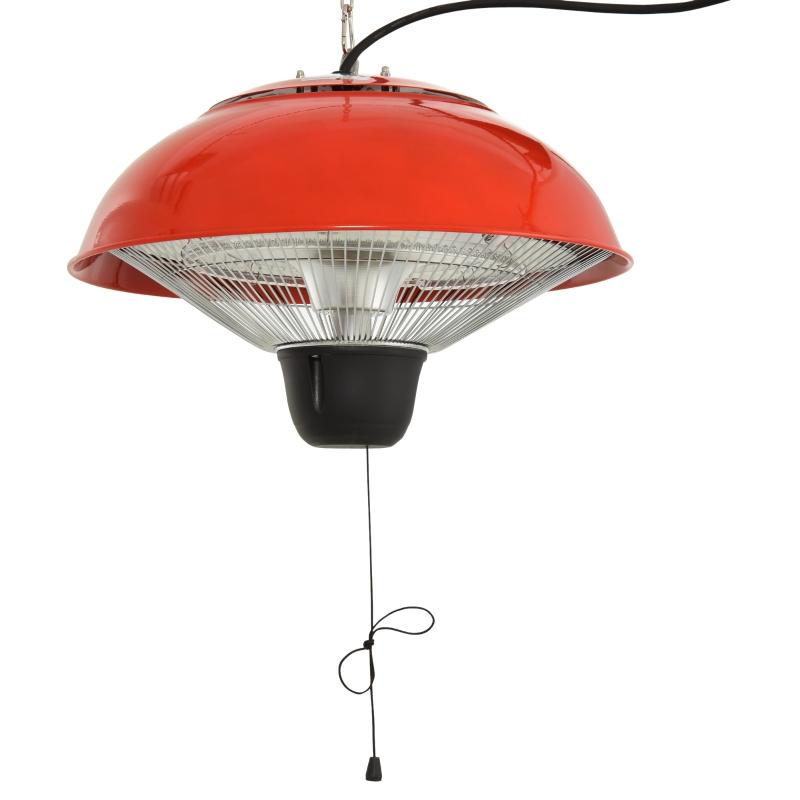 Outsunny Patio Heater, 1500W,  Aluminium-Red