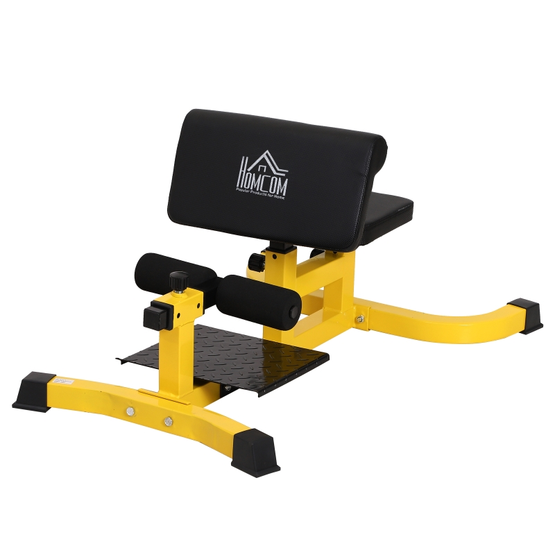 HOMCOM Squat Bench Trainer Sit Up Machine Ab Curl Workout Home Gym