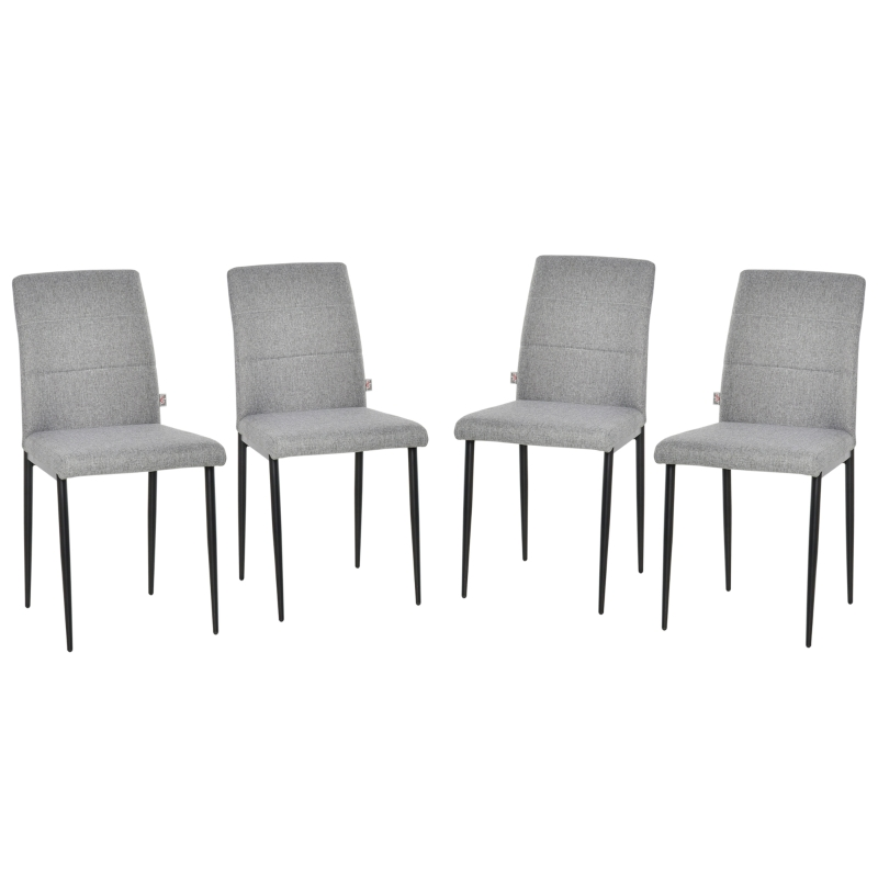 Zestaw 4 krzeseł do jadalni krzesła kuchenne krzesła tapicerowane fotel PU juta nowoczesny