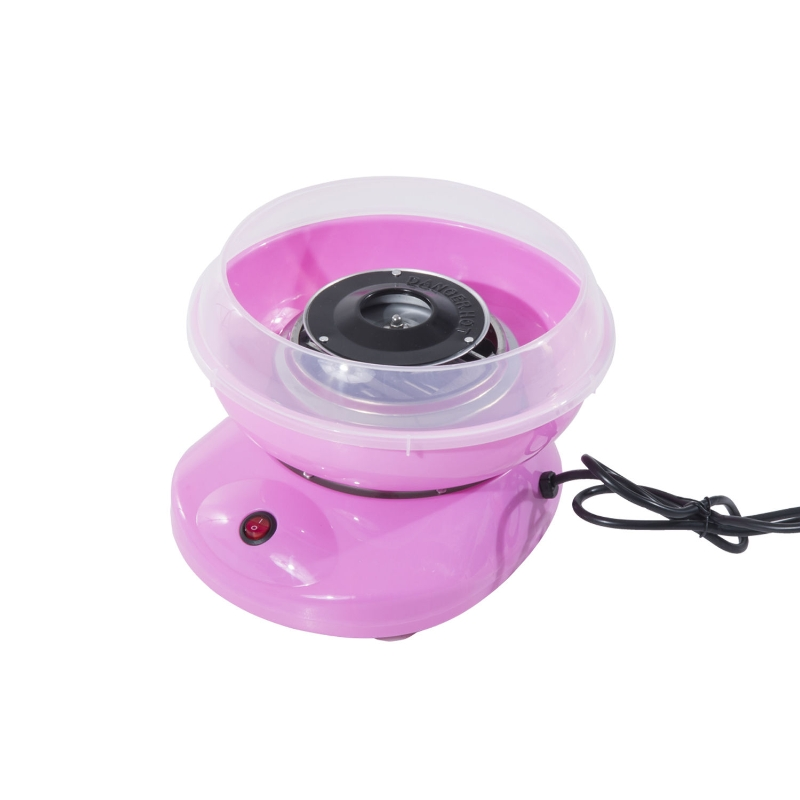 HOMCOM 450W Stainless Steel Electric Candy Floss Machine Pink