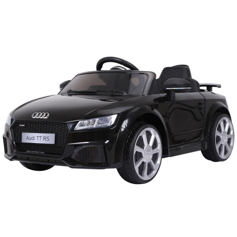 HOMCOM Kids Licensed Audi TT Ride-On Car 6V Battery w/ Remote Suspension Headlights and MP3 Player 2.5-5km/h Black