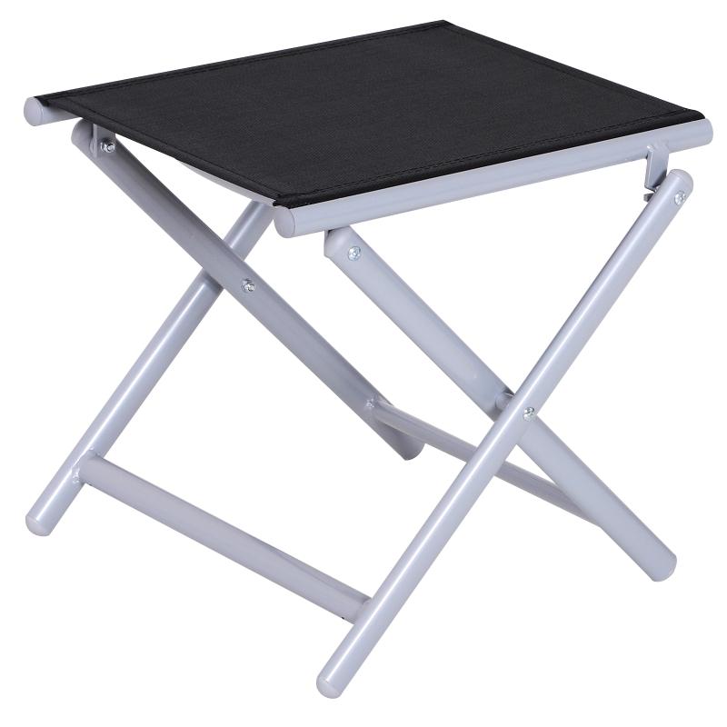 Outsunny Portable Aluminium Textilene Chair-Black