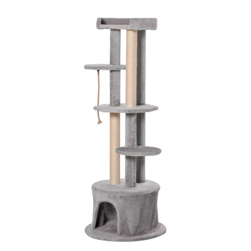 PawHut Cat Tree Multi-level Kitten Tower w/ Scratching Post Condo Plush Perches