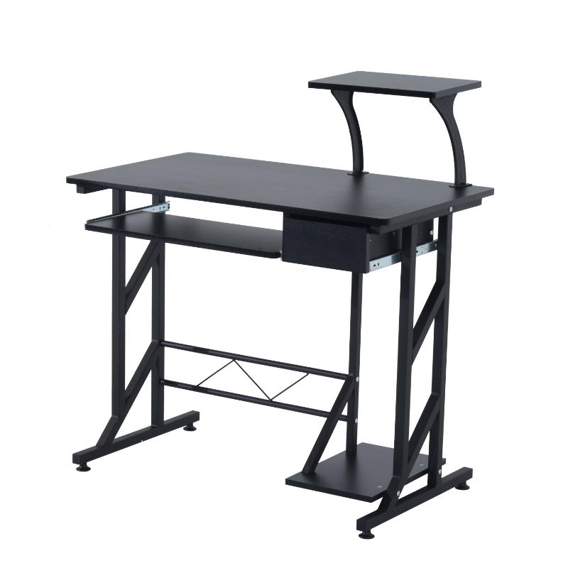 HOMCOM Compact Computer Desk-Black