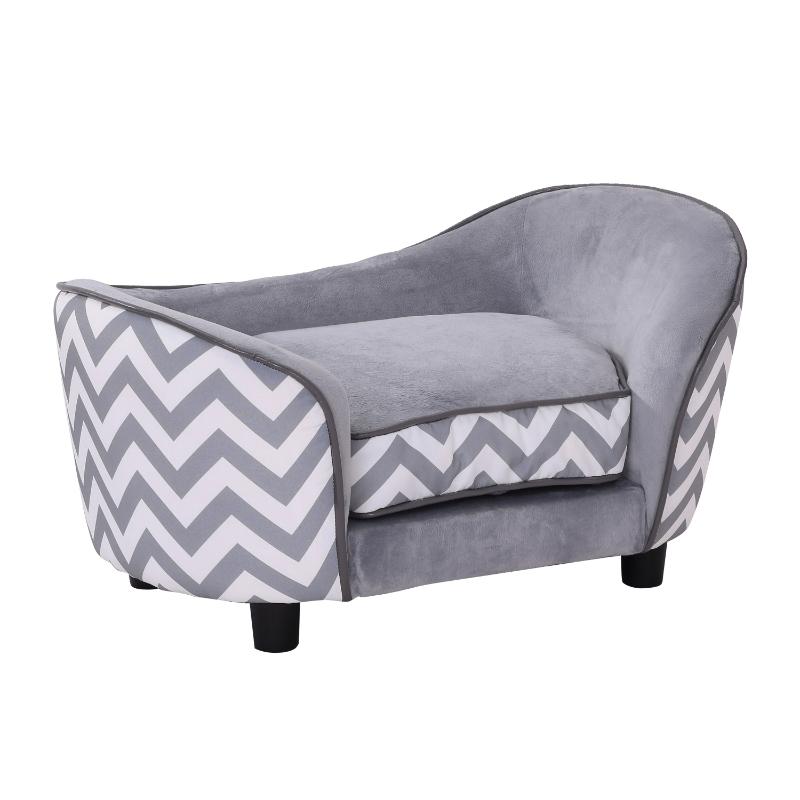 Pawhut 66.5Lx40.5Wx35.5H cm Pet Sofa-Grey