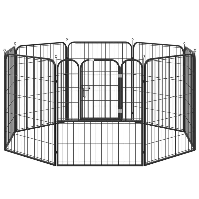 PawHut 4 Sizes Pet Playpen Dog Rabbit  Puppy Cage Folding Run Fence Garden Metal Hutch
