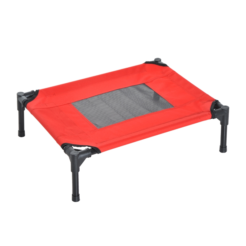 Pawhut Elevated Pet Bed-Black, Red