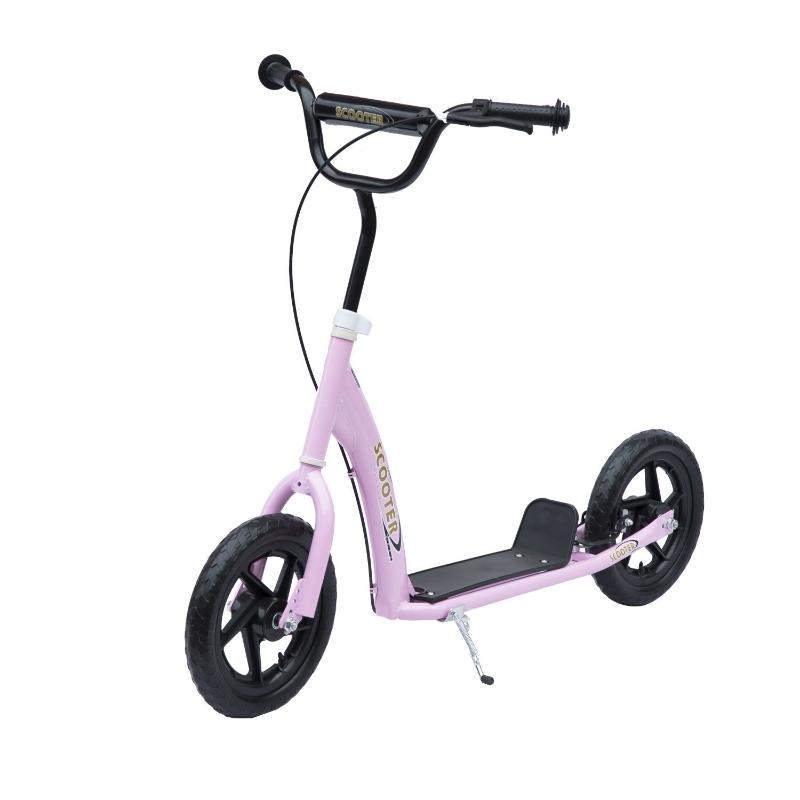 "HOMCOM 12"" Tyres Scooter-Pink"