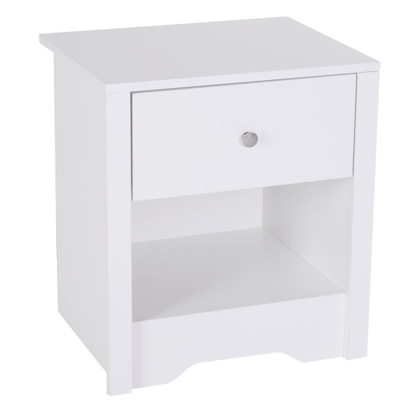 HOMCOM 53Wx42.5Dx59H cm Bedside Table-White