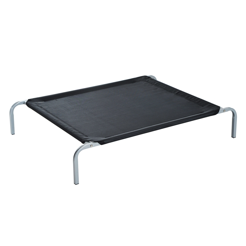 PawHut Small Dogs Portable Elevated Fabric Bed for Camping Outdoors Black