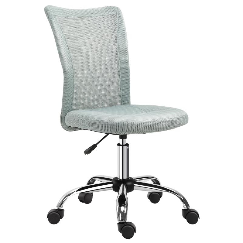 Vinsetto Mesh Ergonomic Home Office Chair w/ Wheels Grey