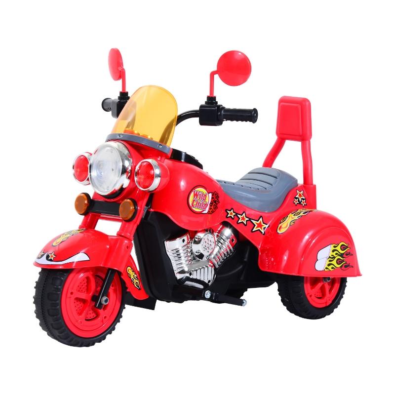 HOMCOM Kids Ride On Kids Electric Motorcycle, 6V-Red