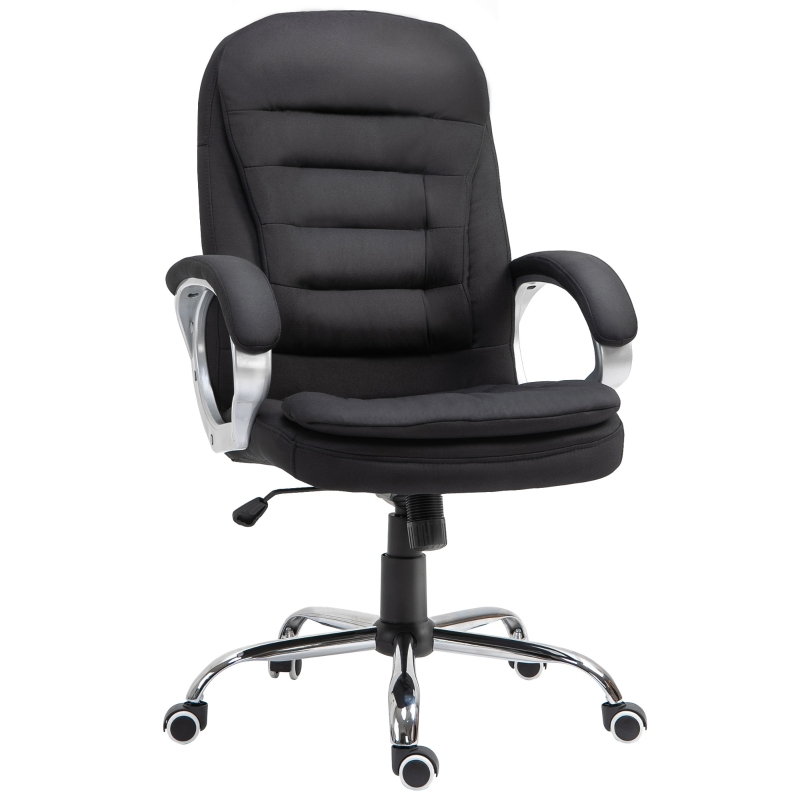 Vinsetto Office Chair Rock 360° Rolling Lumbar Support Adjustable Height Work