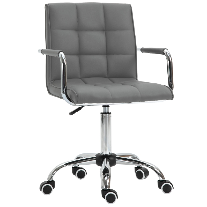 Vinsetto Executive PU Padded Swivel Office Chair With Adjustable Height - Grey