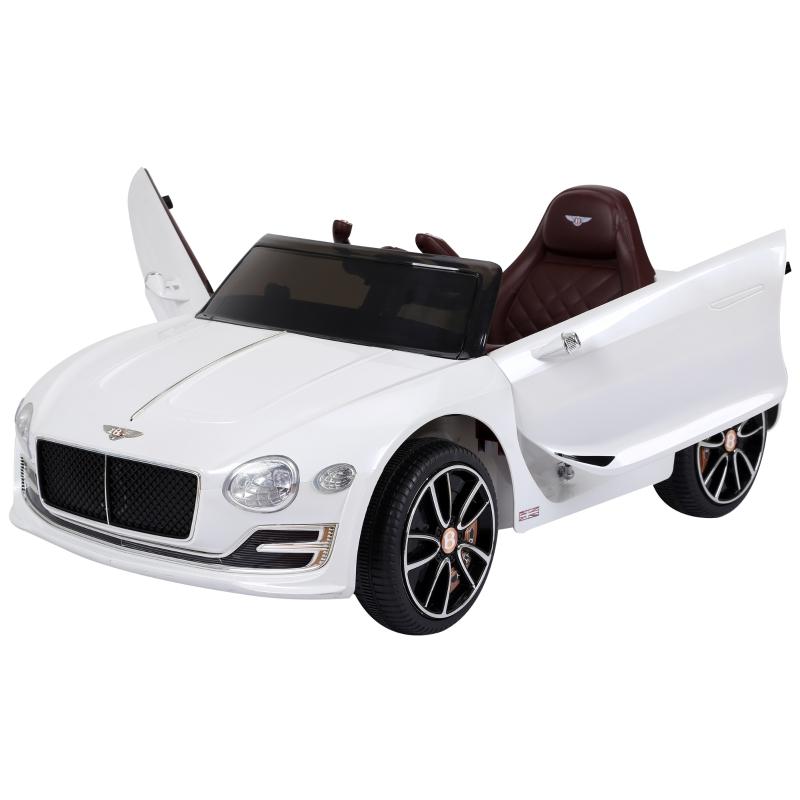 HOMCOM Kids Electric Ride-on Car W/ LED Lights-White