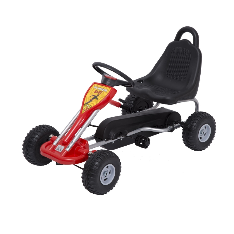 HOMCOM Kids Children Pedal Go Kart Manual Ride On Car Outdoor Fun Vehicle for 3-4 Years Old