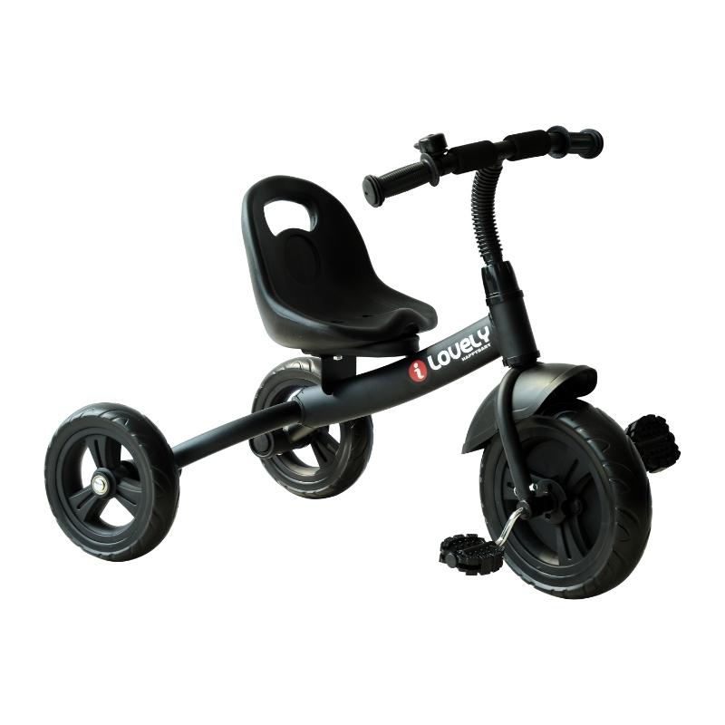HOMCOM Toddler Three Wheel Plastic Tricycle Bike Black
