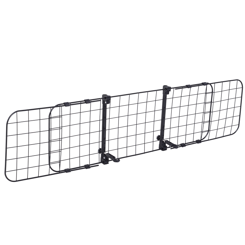 PawHut Heavy Duty Pet Dog Car Barrier Adjustable Ventilated Mesh Wire Guard Protector