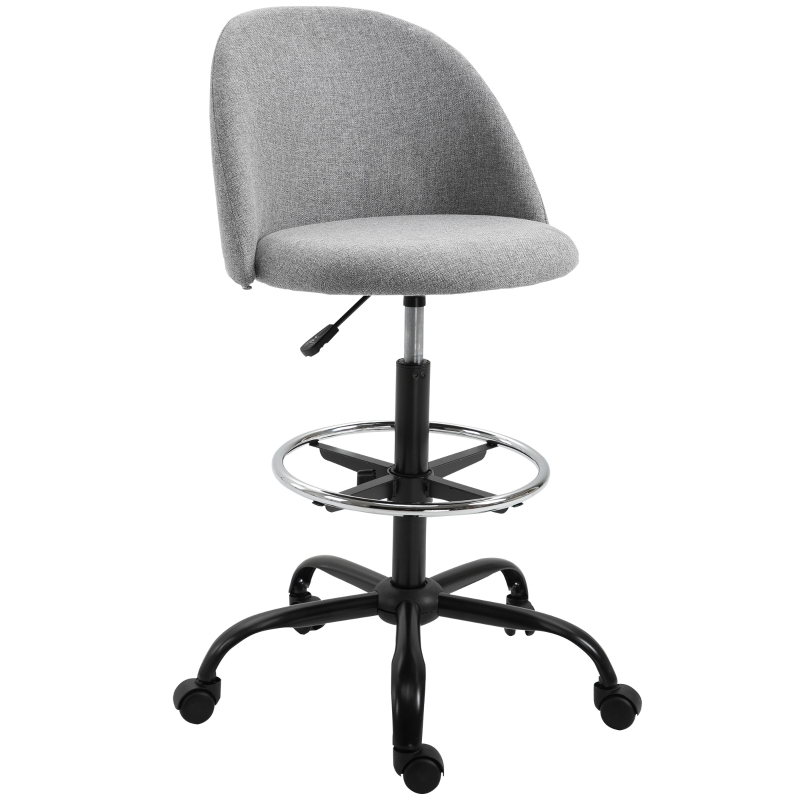 Vinsetto Padded Polyester Tall Design Office Chair Grey
