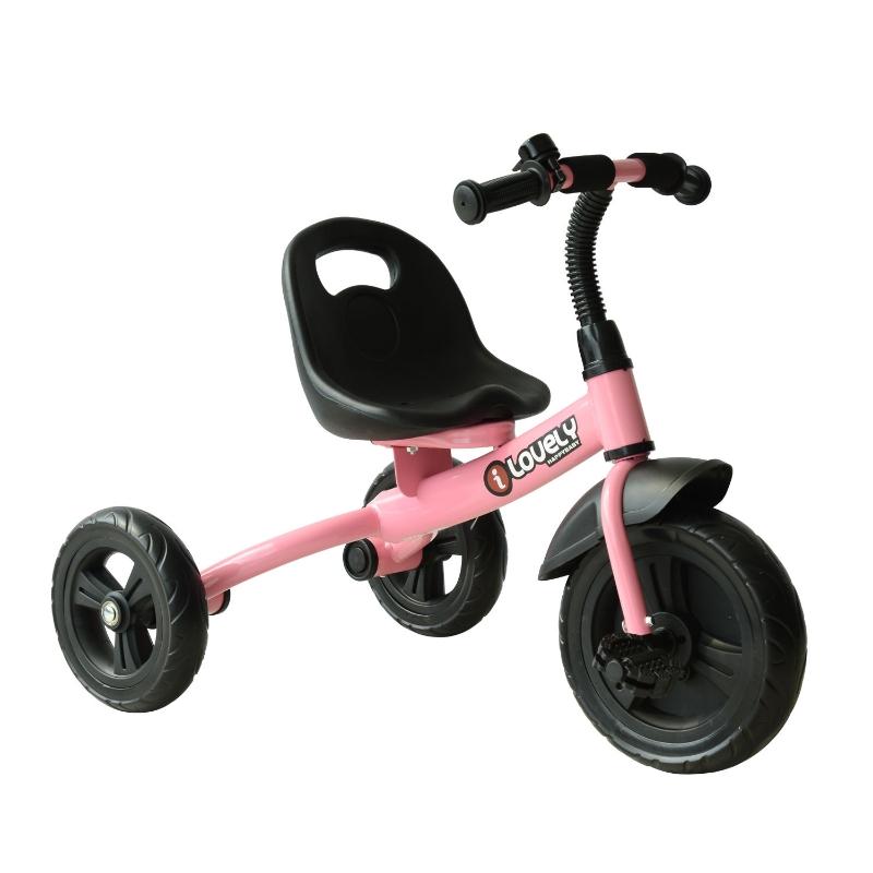 HOMCOM Toddler Three Wheel Plastic Tricycle Bike Pink