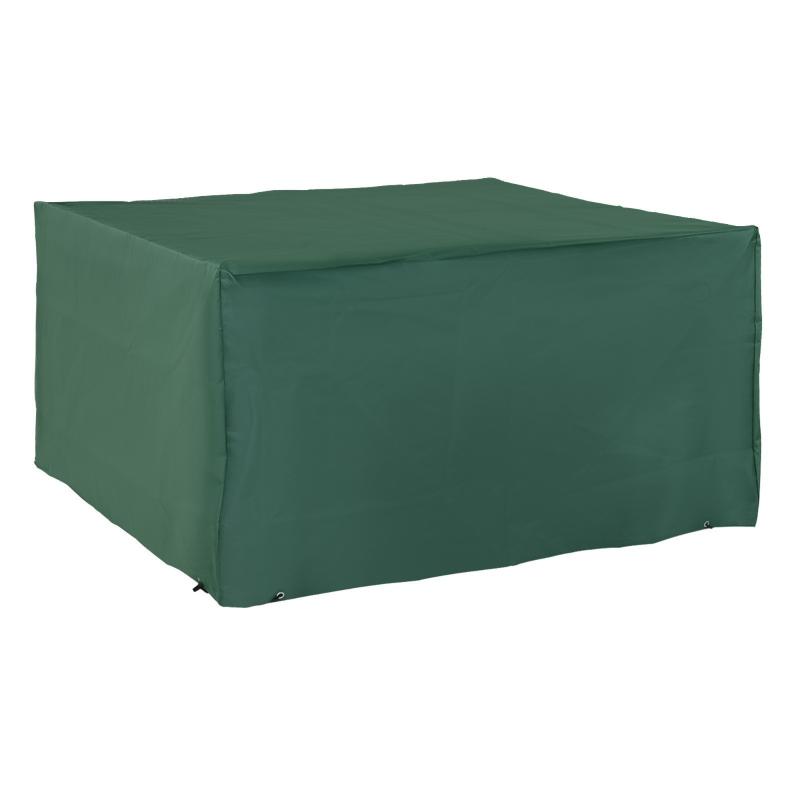 Outsunny UV/Rain Protective Rattan Furniture Cover, 135x135x75 cm-Green