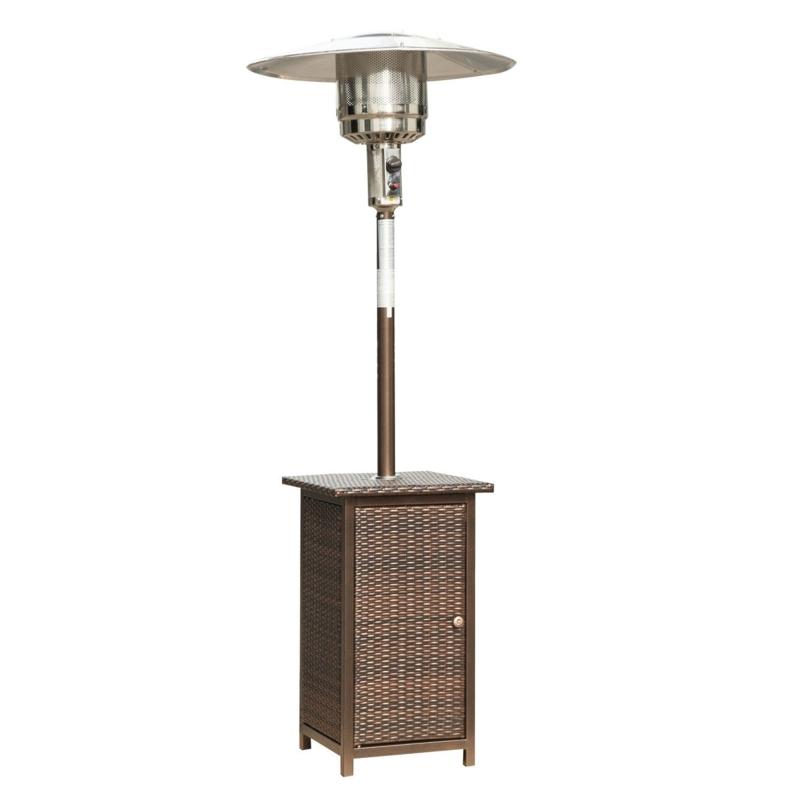 HOMCOM 12KW Free Standing Rattan Outdoor Garden Heater Brown