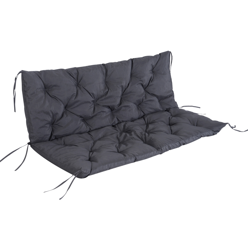 Outsunny Oxford Fabrics Tufted 3 Seater Swing Chair Cushion Grey