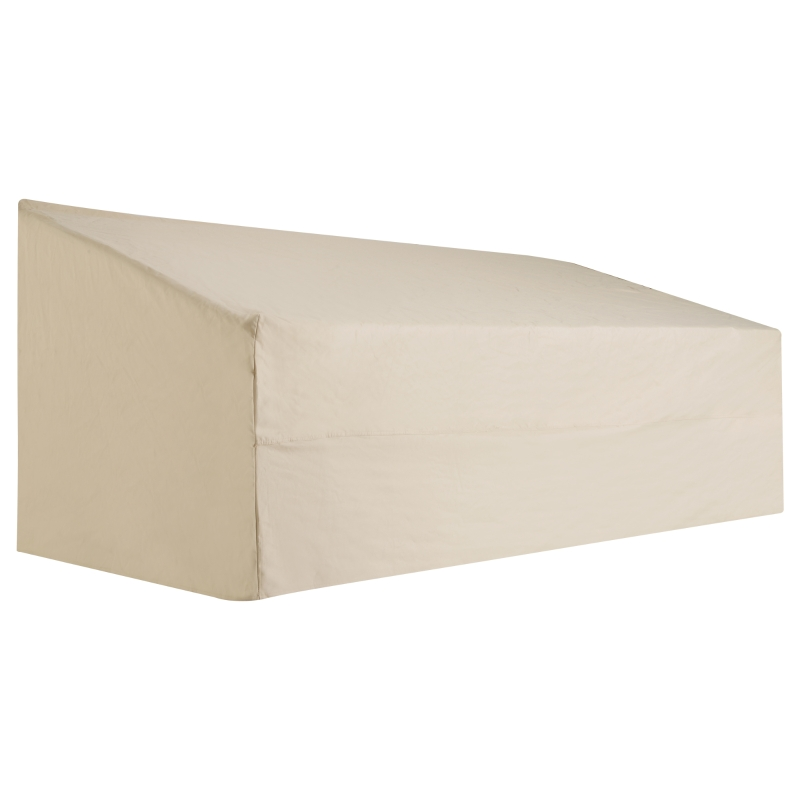 Outsunny Waterproof Furniture Cover For 3 Seat Rattan Sofa, 600D Oxford Cloth, 218Lx111Wx101H cm-Beige/Coffee
