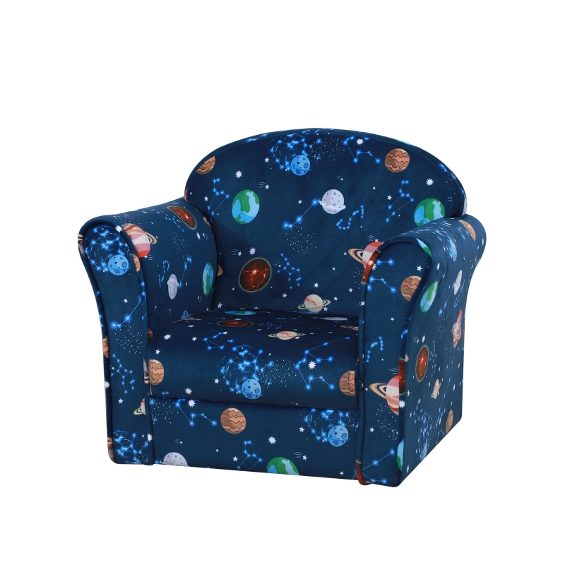 HOMCOM Kids Armchairs Children Sofa Outer-Space Armchair Kids Mini Sofa Children Armchair Sofa For Toddlers Polyester Upholstered