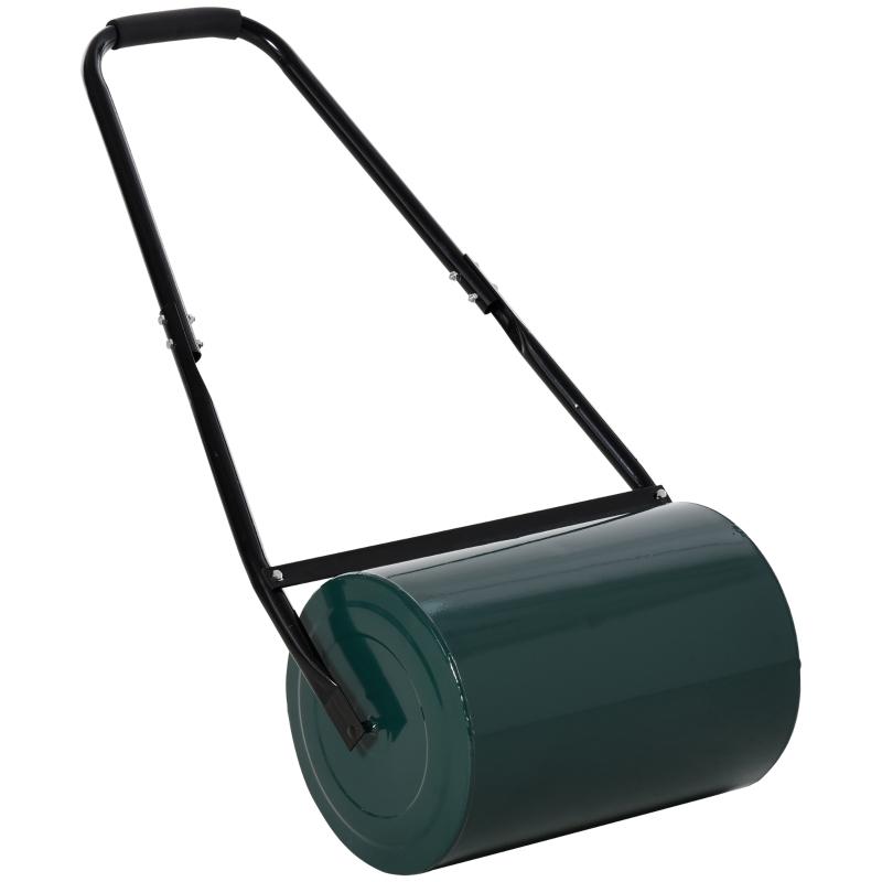 Outsunny 30cm Metal Water/Sand Filled Heavy Duty Garden Lawn Roller Green