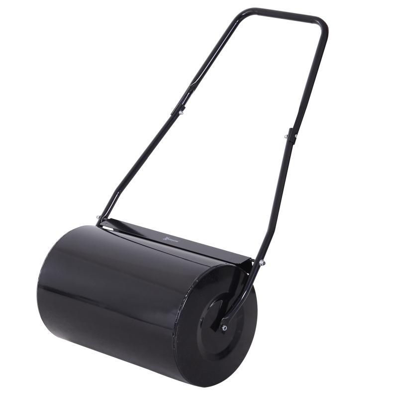 DURHAND Garden Lawn Roller 38L Steel Push Grass Mower Scraper Water Sand Filled
