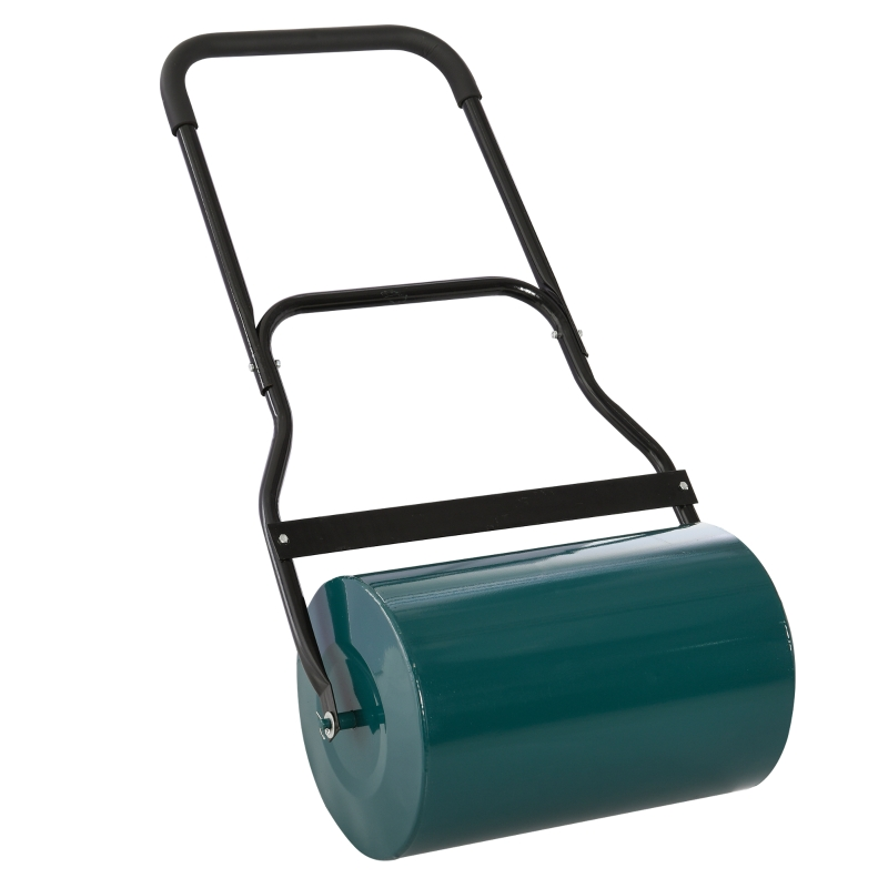 Outsunny 40L Metal Sand or Water Filled Lawn Roller Green